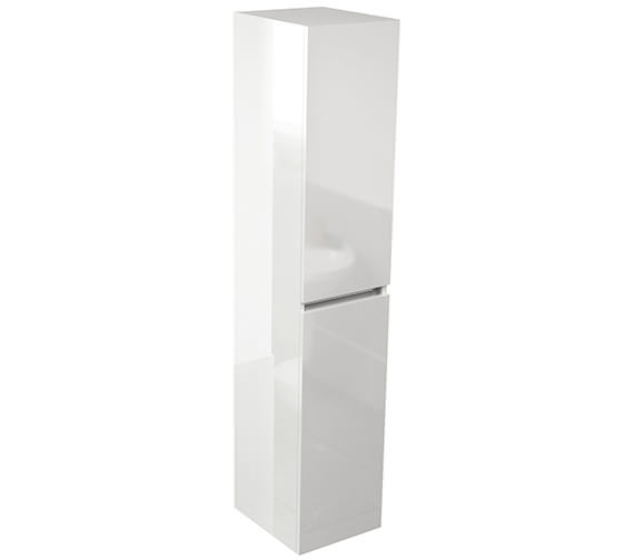 Pura Echo 350 x 1500mm Double Door Tall Storage Unit White Gloss