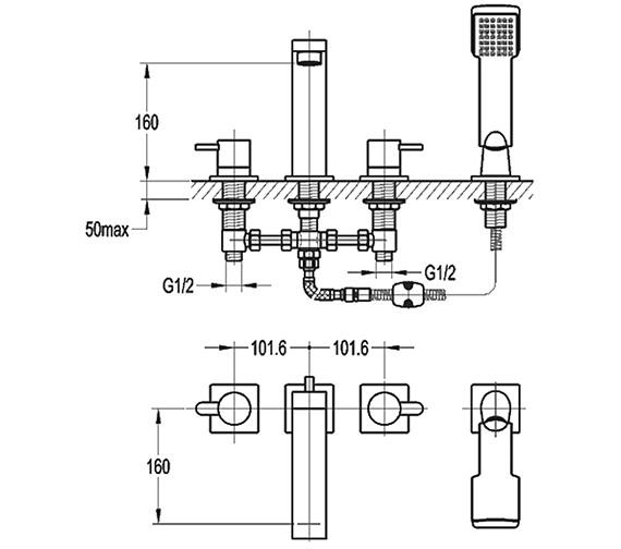 Technical drawing QS-V15334 / ES4HBSM