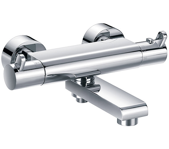 Flova Essence Thermostatic Wall Mounted Bath-Shower Mixer Tap