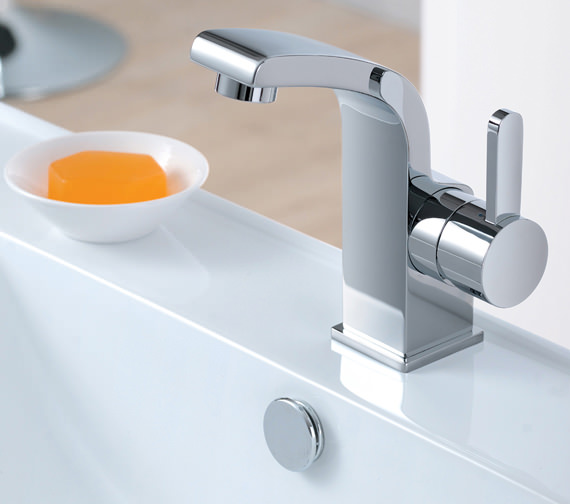 Additional image of Flova Essence Side Lever Basin Mixer Tap With Clicker Waste