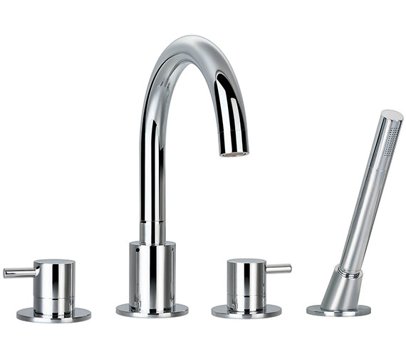 Flova Levo 4 Hole Bath-Shower Mixer Tap With Handset And Hose