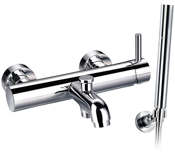 Flova Levo Wall Or Deck Mounted Single Lever Bath-Shower Mixer Tap With Kit
