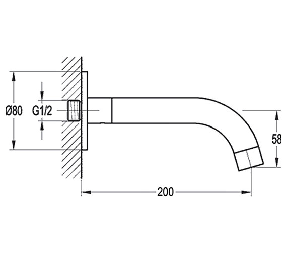 Technical drawing QS-V15381 / LVEXTSPOUT