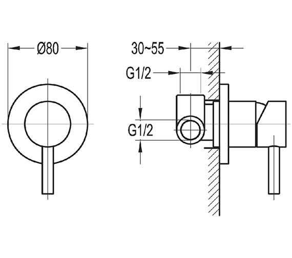 Technical drawing QS-V15384 / LVSHVOS