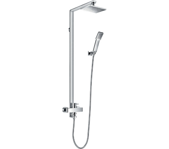 Flova Essence Manual Exposed Shower Column With Handset And Head