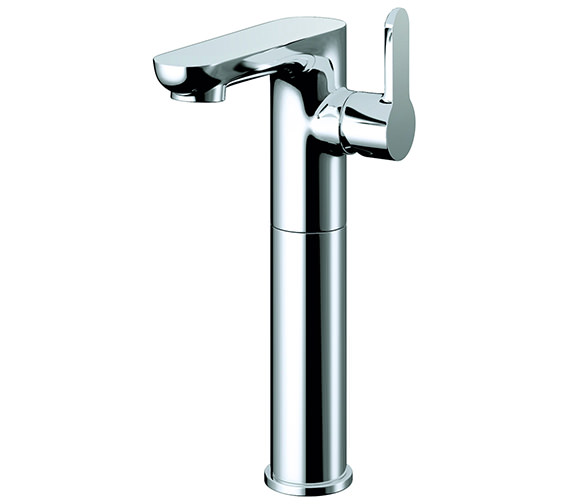 Pura Echo Side Lever Tall Basin Mixer Tap With Clicker Waste