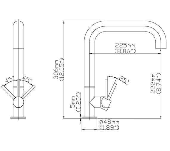 Technical drawing QS-V15563 / TU713DS