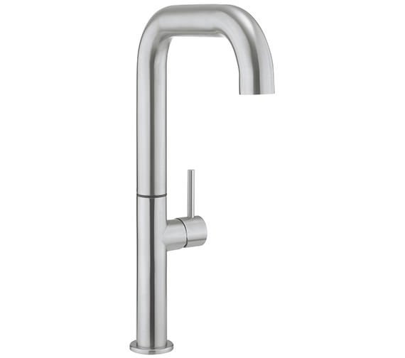 Crosswater Cucina Tube Stainless Steel Tall Side Lever Kitchen Mixer Tap