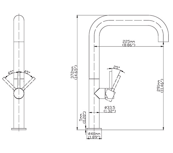Technical drawing QS-V15565 / TU715DS