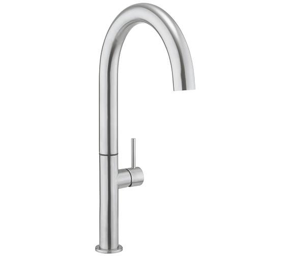 Crosswater Cucina Tube Stainless Steel Round Tall Kitchen Sink Mixer Tap