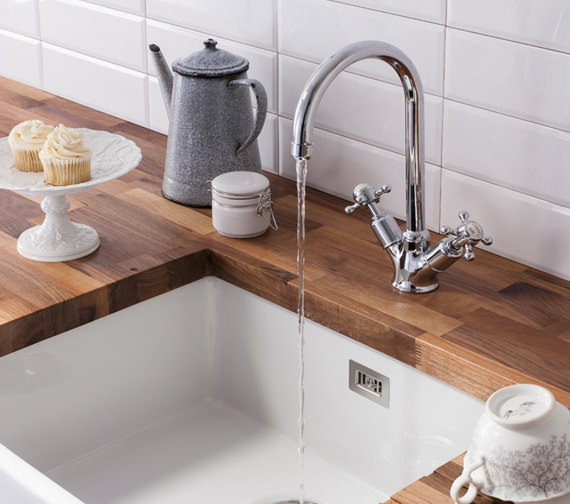 Crosswater Cucina Belgravia Crosshead Two Handle Kitchen Sink Mixer Tap