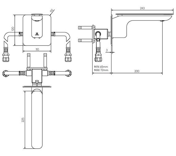 Technical drawing QS-V15602 / KH02_120WNC