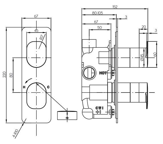 Technical drawing QS-V15607 / KH02_1000RC