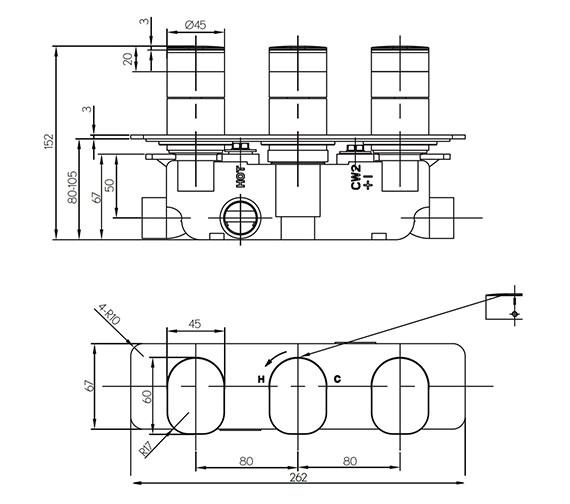 Technical drawing QS-V15611 / KH02_2001RC