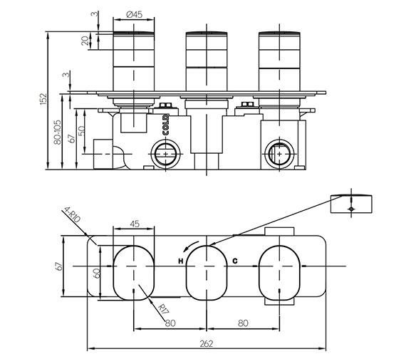 Technical drawing QS-V15613 / KH02_3001RC