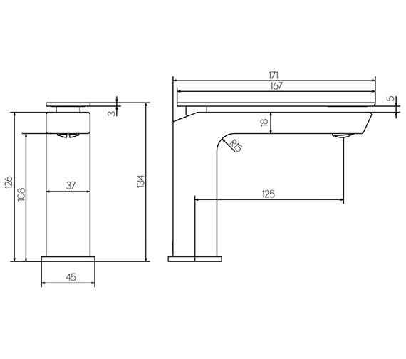 Technical drawing QS-V15614 / KH03_110DNC