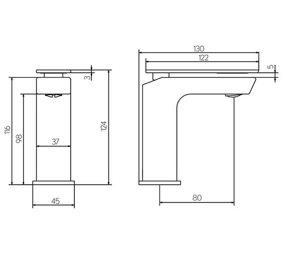 Technical drawing QS-V15615 / KH03_114DNC