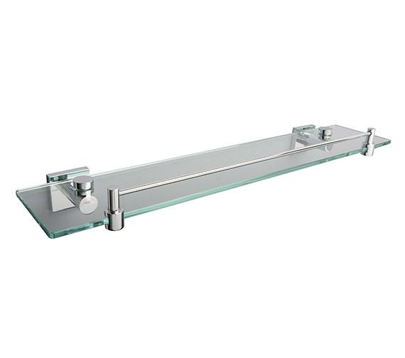 Miller Atlanta Glass Shelf With Guard Rail 500mm - 8802C
