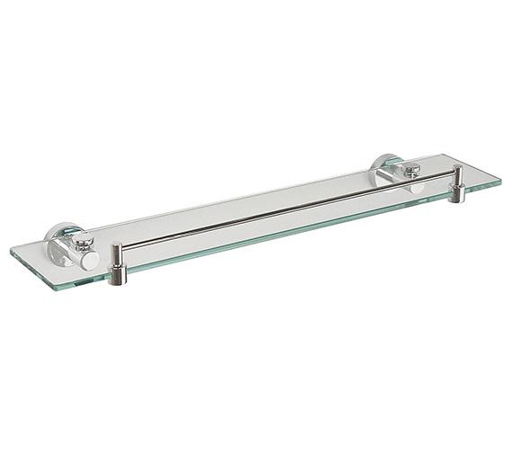 Miller Bond Glass Shelf With Guard Rail 500mm - 8702C