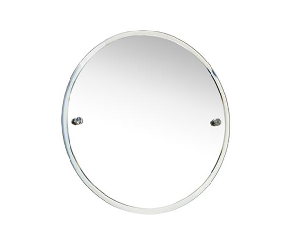 Miller Bond 450mm Round Wall Mounted Bevelled Mirror - 8700C
