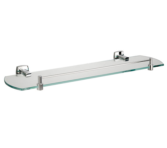 Miller Denver Glass Shelf With Guard Rail 500mm - 6402C