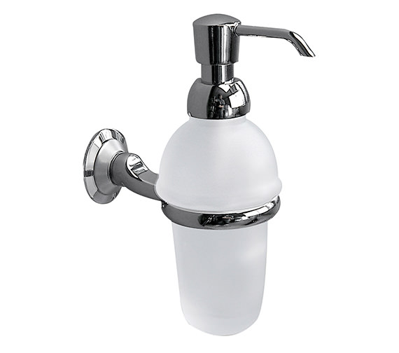 Miller Metro Frosted Glass Lotion Bottle And Holder - 6334C-S