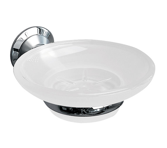 Miller Metro Frosted Glass Soap Dish And Holder - 6304C-S