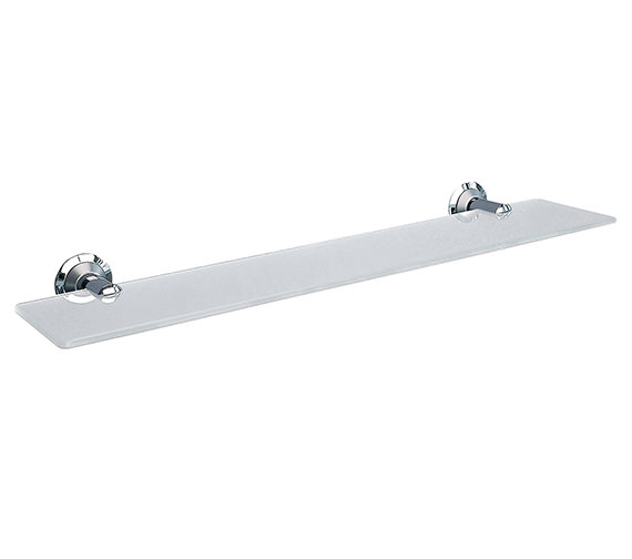 Miller Metro Frosted Glass Shelf 500mm - 6302C-S