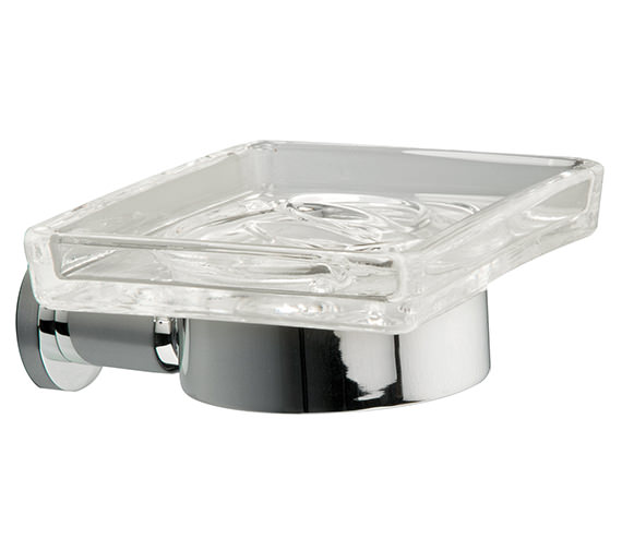 Miller Montana Clear Glass Soap Dish And Holder - 6704C