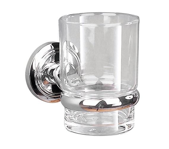 Miller Oslo Clear Glass Tumbler And Holder - 8003C