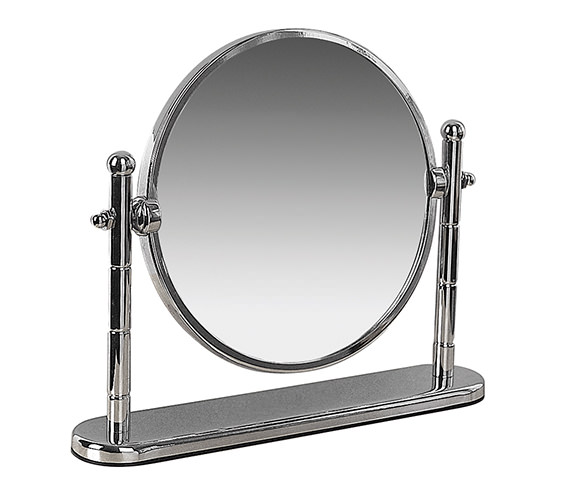Miller classic 190mm round magnifying mirror with stand 683c for Magnifying bathroom mirror on stand