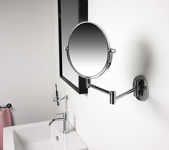 Alternate image of Miller Classic Modern 190mm Round Magnifying Mirror - 8781C