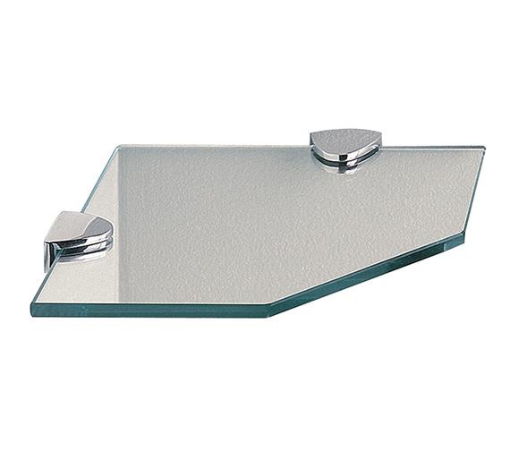 Miller Classic Clear Glass Corner Shelf 200mm - 292020