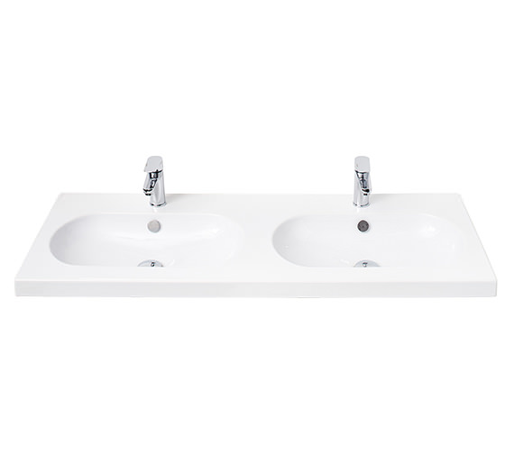 Miller 1200mm Double Oval Bowl Ceramic Basin - 127W1