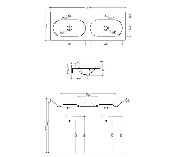 Technical drawing QS-V15886 / 127W1