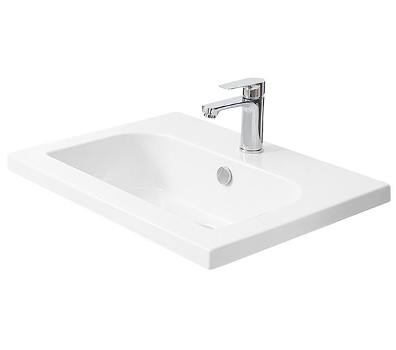 Miller 610mm D-Shaped Bowl Ceramic Basin - 120W1