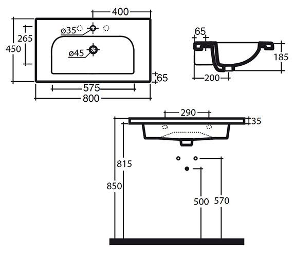 Technical drawing QS-V15888 / 121W1