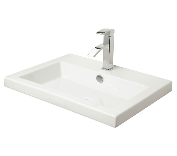 Miller Rectangular Bowl 605mm White Ceramic Basin - More Size And Finish Available