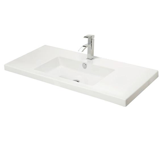 Miller 1005mm Rectangular Bowl White Ceramic Basin - 113W1
