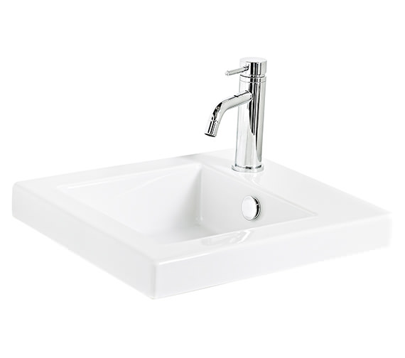 Miller 405mm Ceramic Basin With Top Right Hand Corner Tap Hole