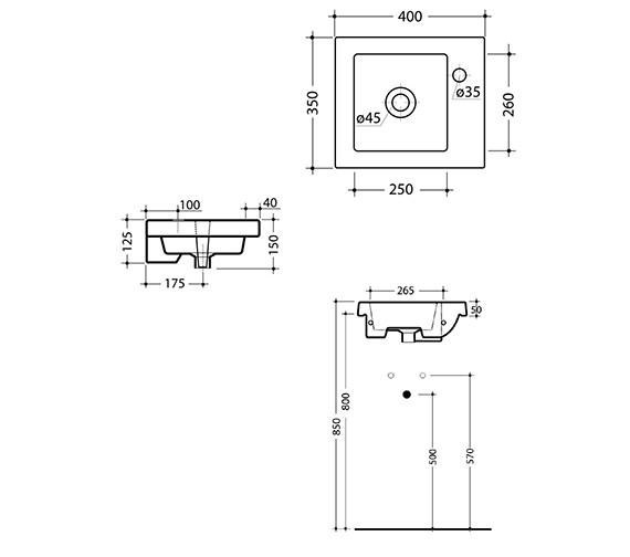 Technical drawing QS-V15896 / 165W1