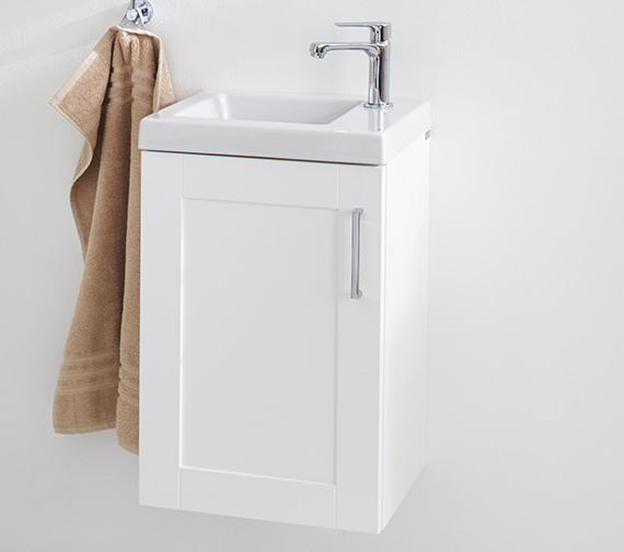 Additional image of Miller 405mm Ceramic Basin With Top Right Hand Corner Tap Hole