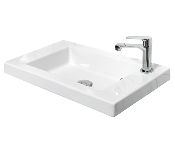 Miller 600mm Ceramic Basin With Top Right Hand Corner Tap Hole