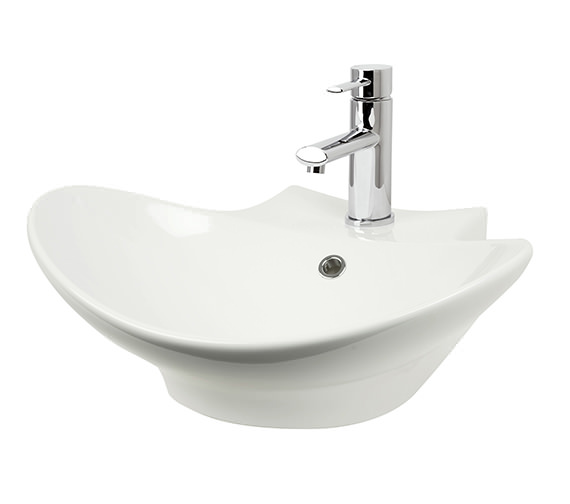 Miller 500mm Counter Top Or Wall Hung Ceramic Basin - 116W1