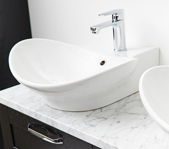Additional image of Miller 500mm Counter Top Or Wall Hung Ceramic Basin - 116W1