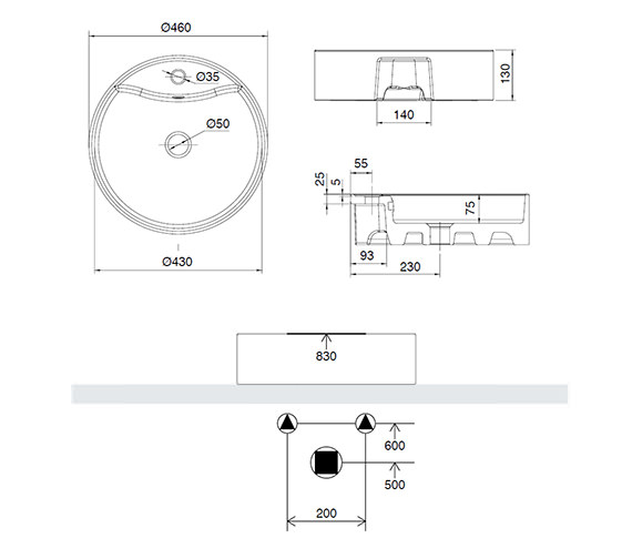 Technical drawing QS-V15901 / 171W1