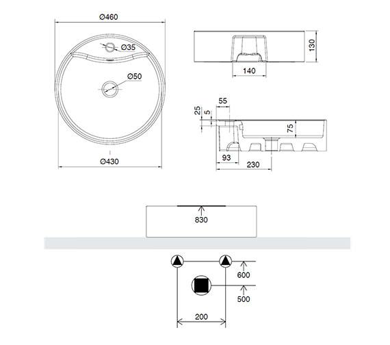Technical drawing QS-V15901 / 171W1