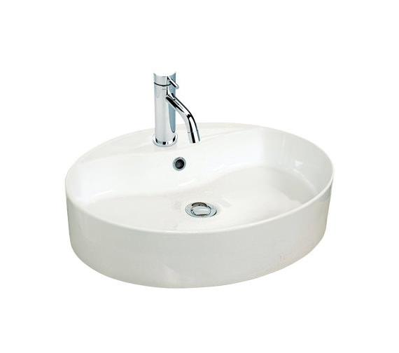 Miller 550mm Oval Counter Top Ceramic Basin - 173W1
