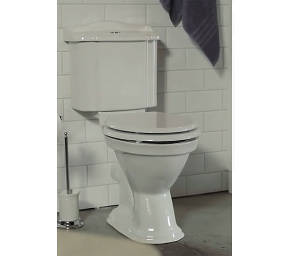 Miller Close Coupled WC Pan With Cistern And Soft Close Seat 690mm