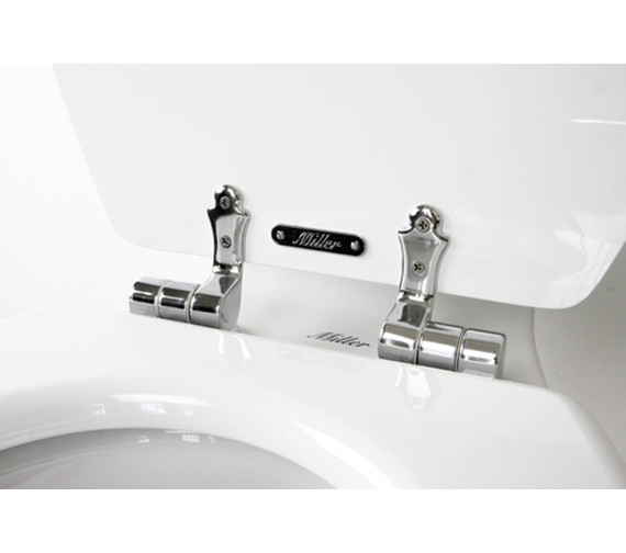 Additional image of Miller Close Coupled WC Pan With Cistern And Soft Close Seat 690mm